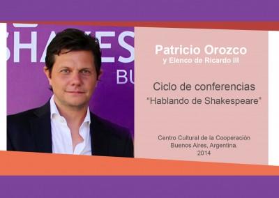 Patricio Orozco y Elenco de Ricardo III – «Hablando de Shakespeare»