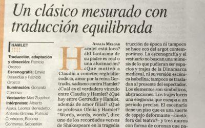 HAMLET: Crítica del Diario Perfil  * * * *