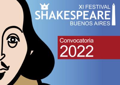 Festival Shakespeare BA: Convocatoria 2022