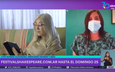 TV Pública Argentina: Presentación del Festival Shakespeare 2021