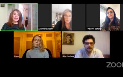 Panel «La violación de Lucrecia hoy». Elena Roger, Leonor Benedetto, Ana María Picchio y Alberto Ajaka